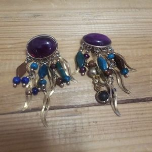 Jewelry - One of a kind, dangle, clip earrings